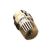 Термостатическая головка Oventrop Uni LH, артикул 1011468, позолоченная, 7-28 С, c нулевой отметкой