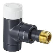 """Вентиль (термостатический клапан) Oventrop серия E (эксклюзивная) угловой Ду15 1/2"""", артикул 1163032, цвет антрацит (черный)"""