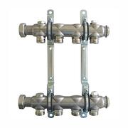 """Гребенка (коллектор) Oventrop для отопительных приборов Multidis SH 1"""", нерж. сталь, на 4 контура 3/4"""", артикул 1407054"""