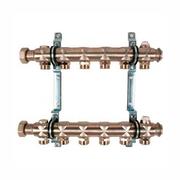 """Гребенка (коллектор) Oventrop для отопительных приборов Multidis SH 1"""", нерж. сталь, на 6 контуров 3/4"""", артикул 1407056"""