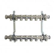 """Гребенка (коллектор) Oventrop для отопительных приборов Multidis SH 1"""", нерж. сталь, на 8 контуров 3/4"""", артикул 1407058"""