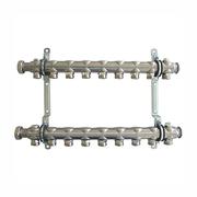 """Гребенка (коллектор) Oventrop для отопительных приборов Multidis SH 1"""", нерж. сталь, на 9 контуров 3/4"""", артикул 1407059"""
