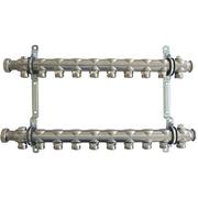 """Гребенка (коллектор) Oventrop для отопительных приборов Multidis SH 1"""", нерж. сталь, на 10 контуров 3/4"""", артикул 1407060"""