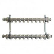 """Гребенка (коллектор) Oventrop для отопительных приборов Multidis SH 1"""", нерж. сталь, на 11 контуров 3/4"""", артикул 1407061"""