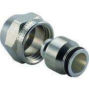 Uponor зажимной адаптер MLC латунь 3/4ВР Евроконус, артикул 1058092, 20 мм, для металлопластиковой трубы MLC