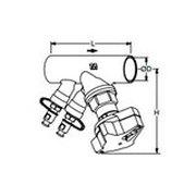 Tour & Andersson Балансировочный клапан STAD-C, без дренажа, DN40, соединение под пайку, PN20, AMETAL, 52153040