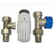 Комплект Standard 6022 проходной SCHLOSSER DN15 GZ1/2 x GW1/2 с термоголовой 600100001, арт. 602200002
