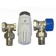 Комплект Standard 6022 угловой SCHLOSSER DN15 GZ1/2 x GW1/2 с термоголовой 600100001, арт. 602200001