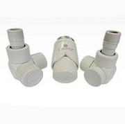 Комплект термостатический SCHLOSSER Exclusive 6017 Белый Форма угловая для медной трубы GZ 1/2 х размер 15х1, арт. 601700101