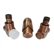 Комплект термостатический SCHLOSSER Exclusive 6017, осевой левый античная медь, для пластиковой трубы GZ 1/2 х 16х2, арт. 601700145