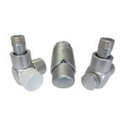 Комплект термостатический SCHLOSSER Exclusive 6017, осевой левый сатин, для пластиковой трубы GZ 1/2 х 16х2, арт. 601700121