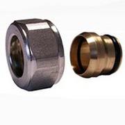 Резьбовое соединение SCHLOSSER для медных труб хром GW 22x1.5 x 15MM, арт. 602500004
