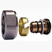Резьбовое соединение SCHLOSSER для пластиковых труб хром GW 22x1.5 x 16x2, арт. 602600006