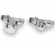Хромированный комплект соединения IVR для стальной трубы прямой, арт. 177605185