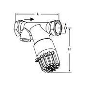 Tour & Andersson Термостатический балансировочный клапан TA-THERM, DN15, без термометра, 60 С, PN16, AMETAL, 52720715