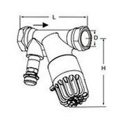 Tour & Andersson Термостатический балансировочный клапан TA-THERM, DN20, с штуцером, 52 С, PN16, AMETAL, 52720820