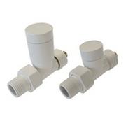 Комплект клапанов ручной регулировки SCHLOSSER Elegant для медных труб GZ 1/2 х 15х1 белый (прямой), арт. 604200021