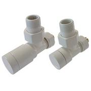 Комплект клапанов ручной регулировки SCHLOSSER Elegant для медных труб GZ 1/2 х 15х1 белый (угловой), арт. 604200001