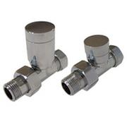 Комплект клапанов ручной регулировки SCHLOSSER Elegant для медных труб GZ 1/2 х 15х1 хром (прямой), арт. 604200023