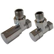 Комплект клапанов ручной регулировки SCHLOSSER Elegant для медных труб GZ 1/2 х 15х1 хром (угловой), арт. 604200003