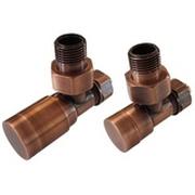 Комплект клапанов ручной регулировки SCHLOSSER Elegant для пластиковых труб GZ 1/2 х 16х2 античная медь (угловой), арт. 604200042