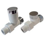 Комплект клапанов ручной регулировки SCHLOSSER Elegant для пластиковых труб GZ 1/2 х 16х2 белый-хром (прямой), арт. 604200026