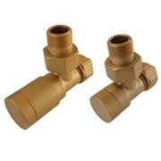 Комплект клапанов ручной регулировки SCHLOSSER Elegant для пластиковых труб GZ 1/2 х 16х2 золотой матовый (угловой), арт. 604200052