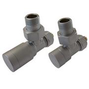Комплект клапанов ручной регулировки SCHLOSSER Elegant для пластиковых труб GZ 1/2 х 16х2 сатин (угловой), арт. 604200048