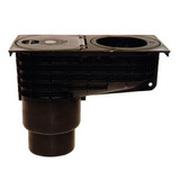 Трап HL для гаража, двора для отвода в ливневую канализацию воды от наружных ливнестоков, с ловушкой для листвы HL660E
