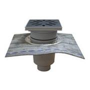 Трап HL для гаража, двора с решеткой из полипропилена с подрамником гидроизоляционным полимербитумным полотном HL616HL