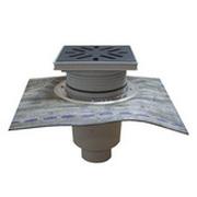 Трап HL для гаража, двора с решеткой из стали с подрамником гидроизоляционным полимербитумным полотном HL616HS