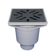 Трап HL для гаража, двора с чугунной решеткой с незамерзающим запахозапирающим устройством, грязеуловителем HL606