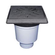 Трап HL для гаража, двора с чугунным подрамником с незамерзающим запахозапирающим устройством, грязеуловителем HL606.1
