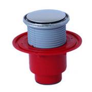 Трап HL для внутренних помещений с круглой решеткой в металлическом подрамнике, с вертикальным выпуском HL310NR SML