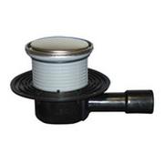Трап HL для внутренних помещений с круглой решеткой в металлическом подрамнике, с горизонтальным выпуском HL510NR