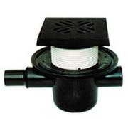 Трап HL для подвалов и технических помещений с обратным клапаном для предотвращения затопления помещения через решётку трапа, с решеткой в подрамнике, с нормально заглушенным входом HL300G