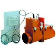 HL 2-х камерный канализационный затвор с электроприводом, с возможностью фиксации второй заслонки в закрытом положении, HL710.2EPC