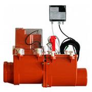 HL 2-х камерный канализационный затвор с электроприводом, с возможностью фиксации второй заслонки в закрытом положении, HL715.2EPC