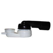Сифон HL для ванн с поворотным шарниром 280° по горизонтали, 10° по вертикали, с резьбовым подсоединением HL500