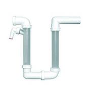 Сифон HL для кондиционеров с высотой водяного затвора 140-320мм, с прозрачным патрубком для визуального контроля гидрозатвора, HL136.2