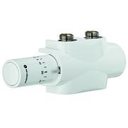 Heimeier Комплект нижнего подключения для полотенцесушителя или дизайн-радиатора с нижним подключением Multilux 4 Eclipse set, белый, 9690-58.800