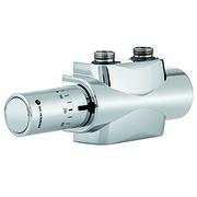 Heimeier Комплект нижнего подключения для полотенцесушителя или дизайн-радиатора с нижним подключением Multilux 4 Eclipse set, хром, 9690-59.800