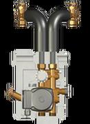 Meibes *Исполнение с двухходовым клапаном, с термостатическим приводом (25–50 °С) c насосом Grundfos UPS 15-50 MBP. Артикул (ME 27409.2)