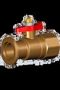 """Meibes запорный шаровой кран из латуни со встроенным обратным клапаном и с фланцем под накидную гайку для подключения циркуляционных насосов DN 25 и DN32 FL х ВР 1"""". Артикул (ME 61851)"""
