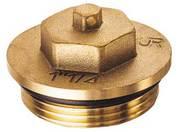 "Латунная заглушка FAR (НР) из DZR-латуни, с уплотнением FK 4149 112, размер 1 1/2"""