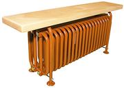 Стальной трубчатый радиатор-скамейка Завалинка РС 4-300-37