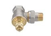 """Клапан терморегулирующий радиаторный, Danfoss RA-G 013G1676, Ду15, 1/2"""", угловой никелированный (для однотрубной системы)"""