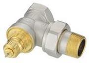 """Клапан терморегулирующий радиаторный, Danfoss RA-G 013G1678, Ду20, 3/4"""", угловой никелированный (для однотрубной системы)"""