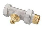 """Клапан терморегулирующий радиаторный, Danfoss RA-G 013G1679 (013G7028), Ду25, 1"""", прямой никелированный (для однотрубной системы)"""