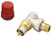 """Клапан терморегулирующий радиаторный, Danfoss RA-N 013G0011, Ду10, 3/8"""", угловой никелированный (для двухтрубной системы)"""